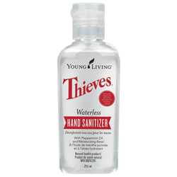 Young Living Thieves hand sanitizer